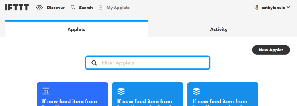 Applets - New Applet