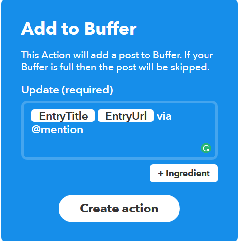 Add more to Buffer Post