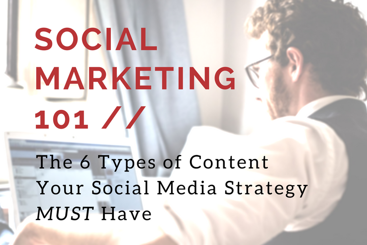 6 Types of Content Your Social Media Strategy MUST Have