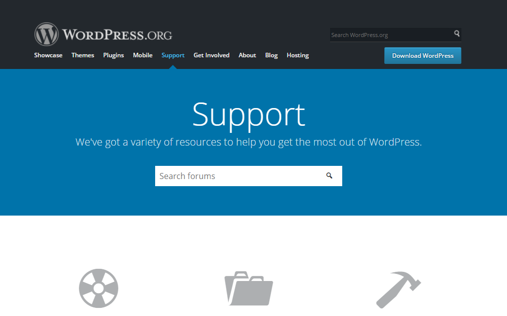 WordPress.org Support forums