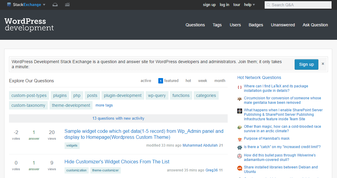 WordPress Development Stack Exchange