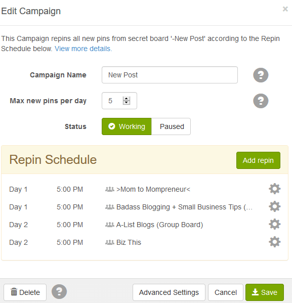Scheduled Campaign