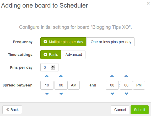 Add Board to Scheduler