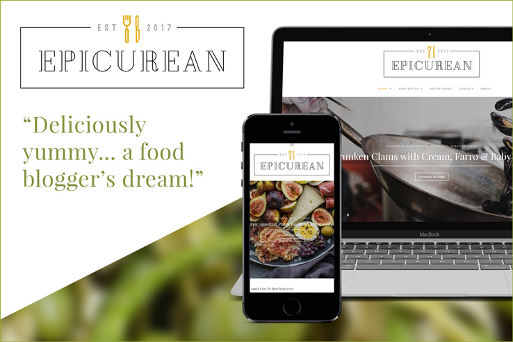 Epicurean Theme for WordPress - A Food Lover's Delight