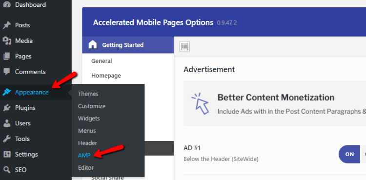 Use Live Customizer to Syle AMP Pages