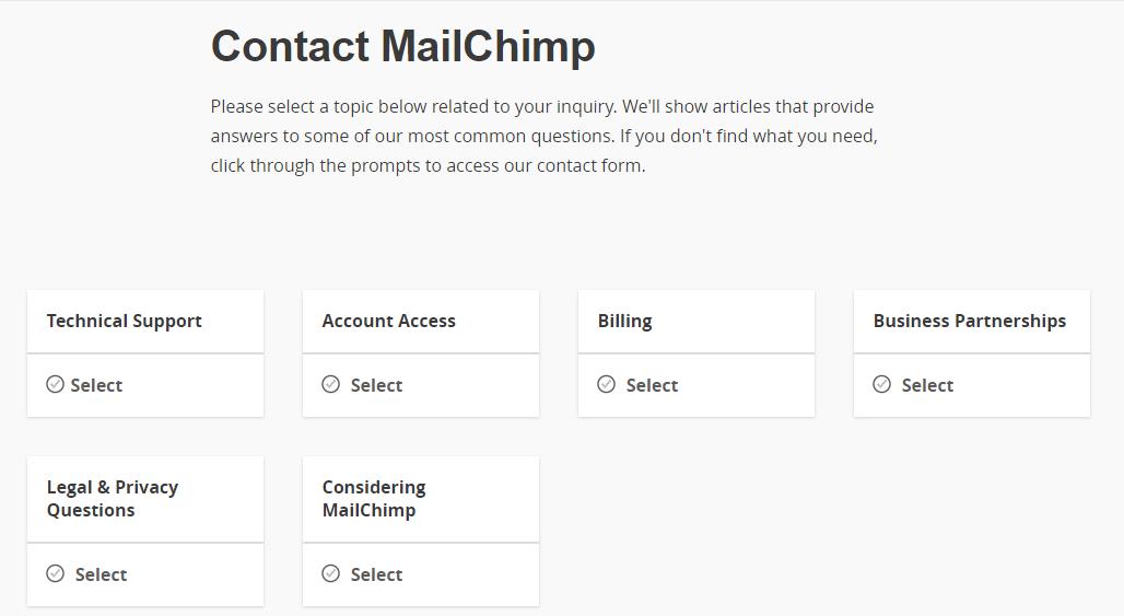 MailChimp Contact