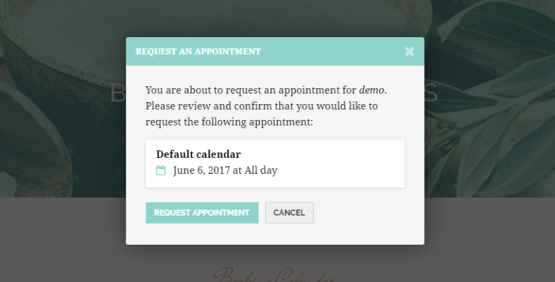 Select appointment