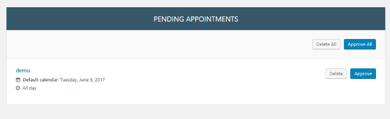 Manage appointments