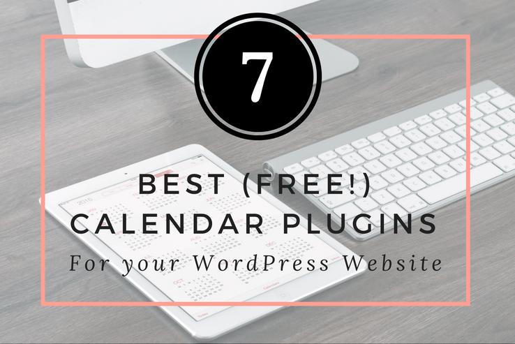 Best, Free Calendar Plugins for WordPress