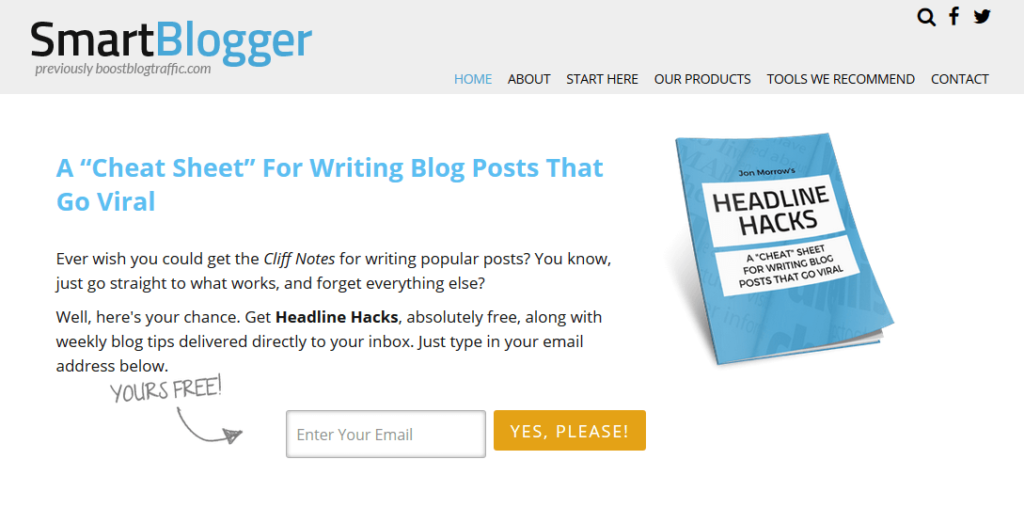 Smart Blogger Example