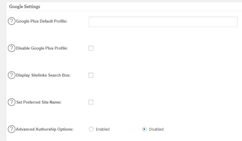 Customize Google Settings
