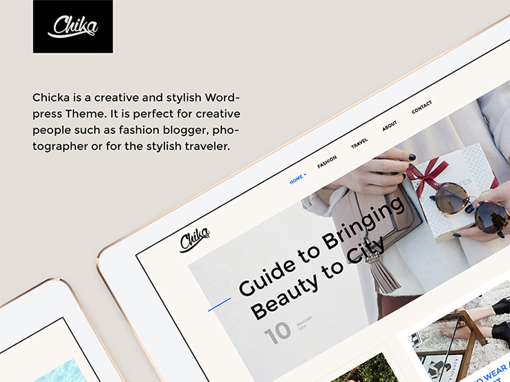 Chika - Creative WordPress Blog Theme