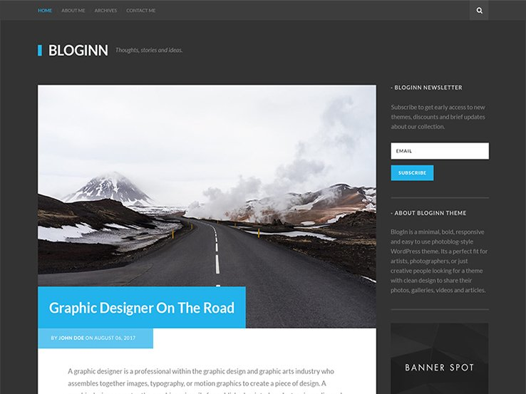- BlogInn - Bold Theme For WordPress WordPress Theme