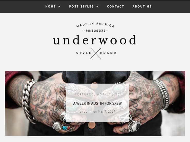 A Modern Blog Theme - Underwood