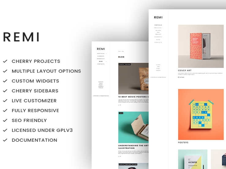 Remi - Photographer Portfolio WordPress Theme