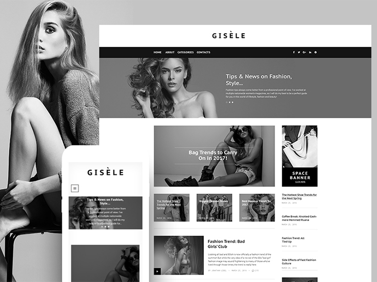 Gisele - Fashion & Lifestyle Blog WordPress Theme