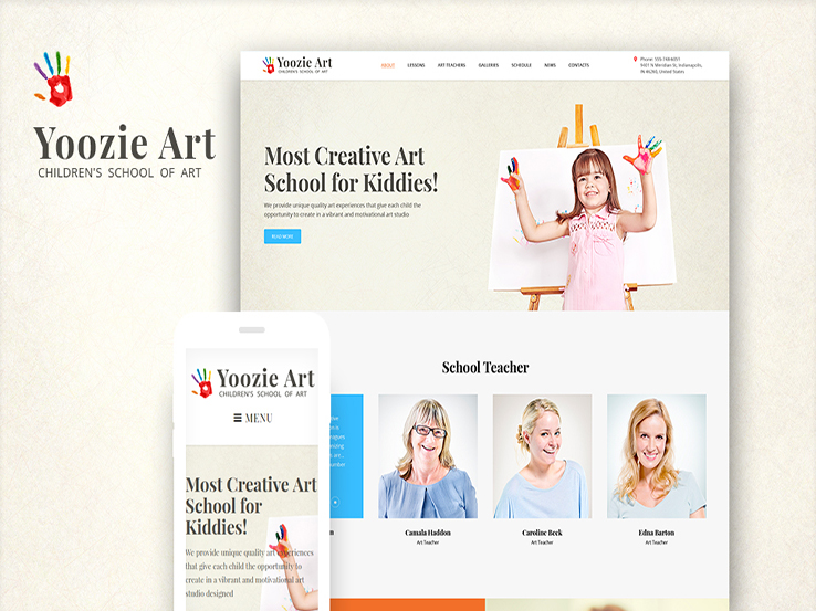 Yoozie - Children Art School WordPress Theme