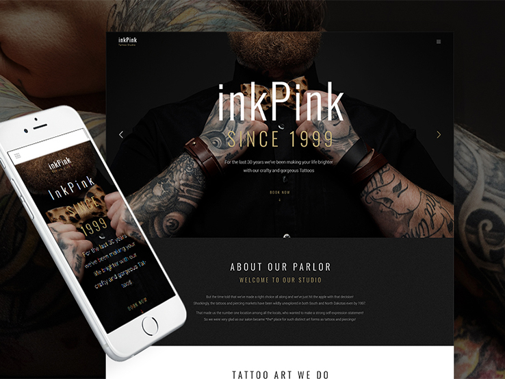 InkPink - Tattoo Studio WordPress Theme