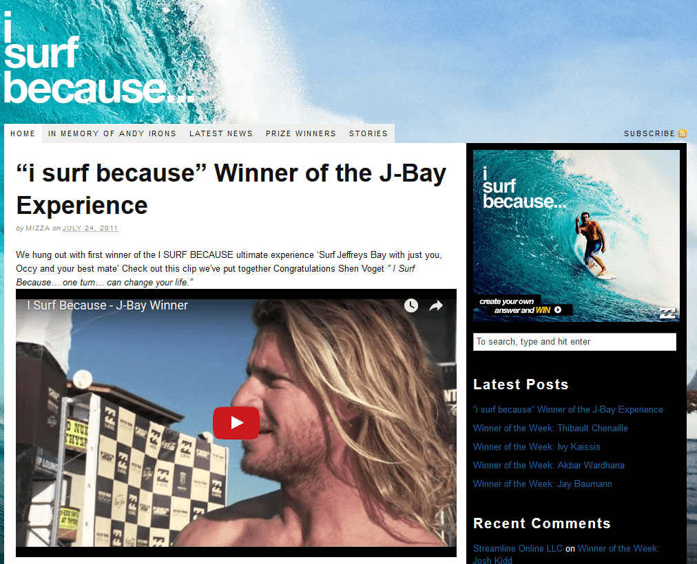 Video-Content-BillaBong-Video-Example