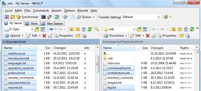 Best FTP clients - WinSCP