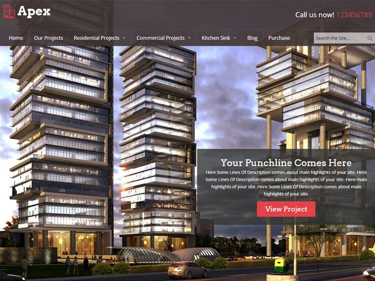 30 best wordpress themes for architects draftsman and for Architecture wordpress