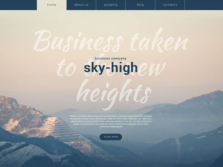 Sky-High Business Theme