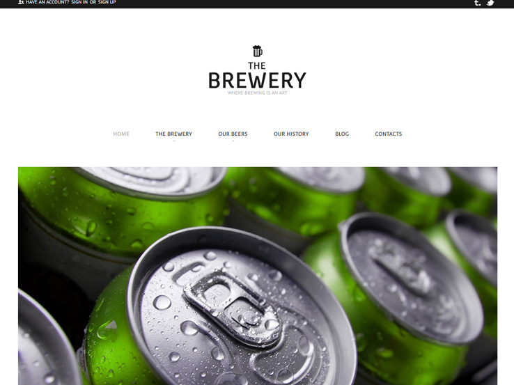 Brewery Business Theme