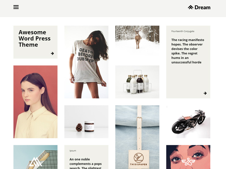 Dream - Blog and Portfolio Theme