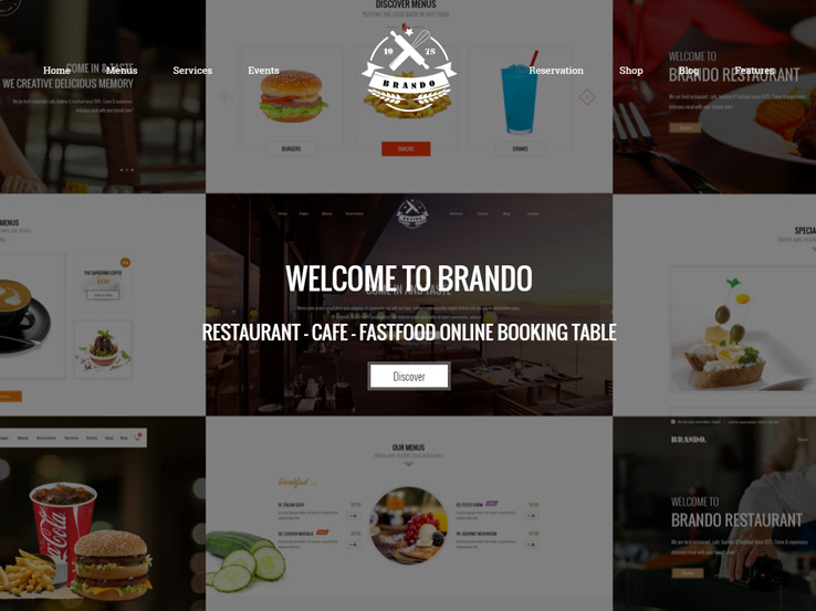 Brando - Cafe, Restaurant and Food Menu Builder