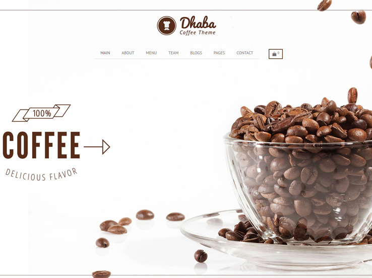 Dhaba - Cafe, Coffee and Cake Shop Theme