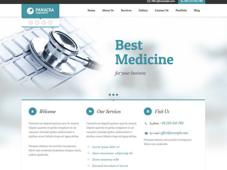 Panacea Medical Parallax Theme