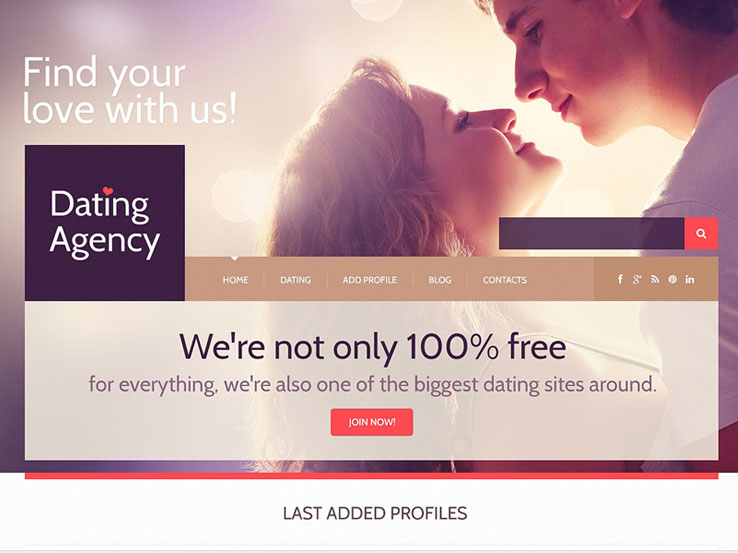 Dating Responsive WordPress Theme       Nimbus Themes