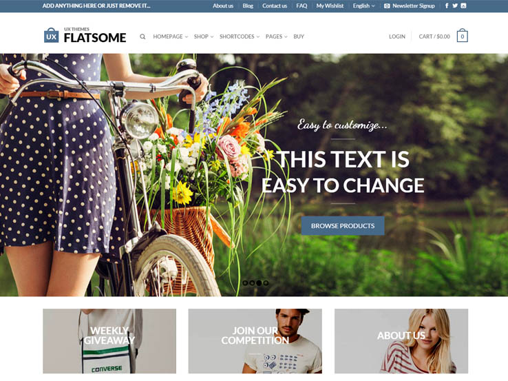 Flat Responsive E-Commerce Theme