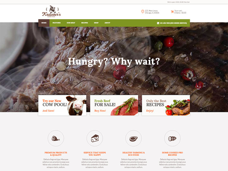 Cattle Farm & Produce Market WP Theme