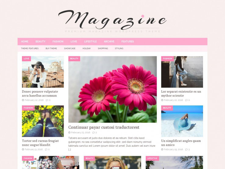 MH Magazine - Newspaper Feminine Theme