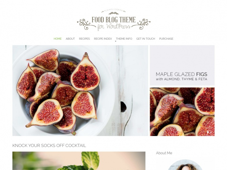 60 best wordpress food blog themes 2018 food blog forumfinder Choice Image