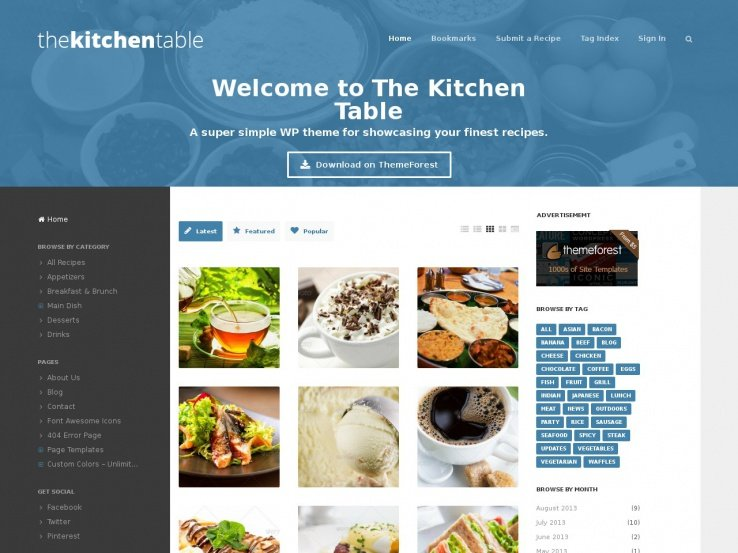 60 best wordpress food blog themes 2018 the kitchen table forumfinder Image collections