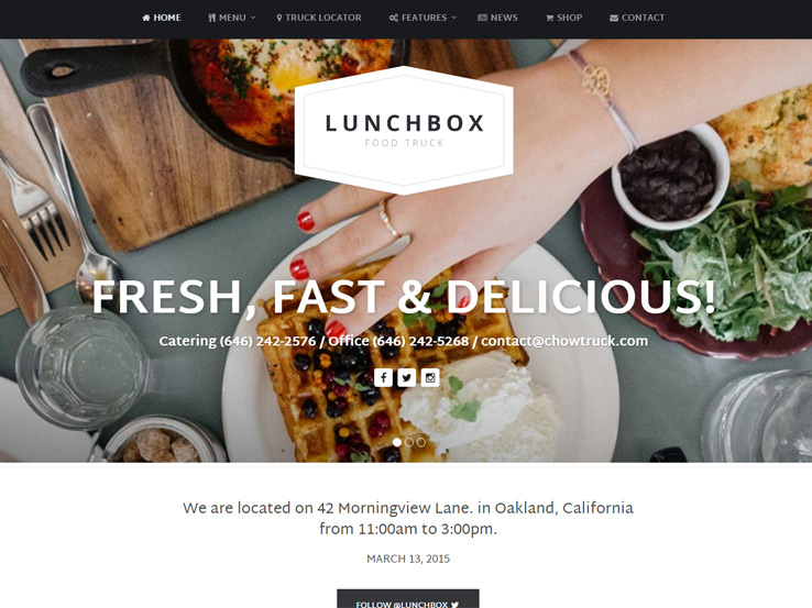 Lunchbox - Food Truck and Restaurant Theme