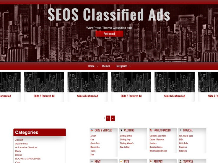 Classified Ads by SEO Themes