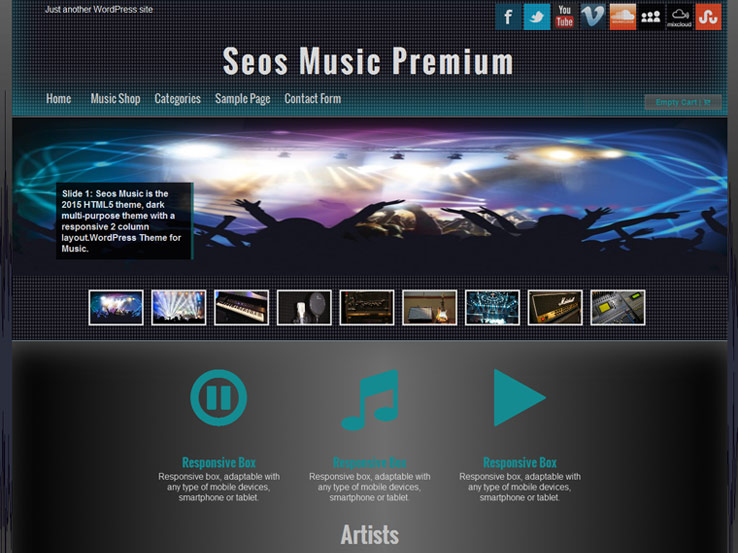12+ Free Music WordPress Themes for Bands and Musicians 2018