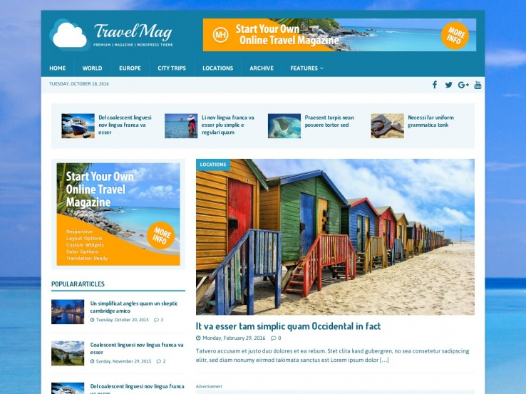 18+ Free WordPress Travel Themes for your Blog or Travel Agency 2019