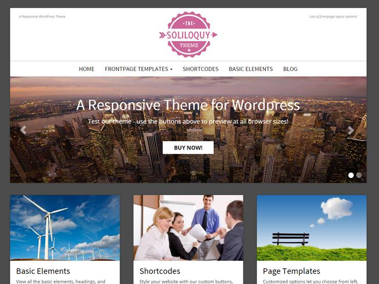 Free Flat Design WordPress Themes - Website front page template