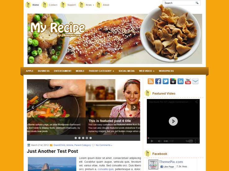 30 free food blog wordpress themes myrecipe forumfinder