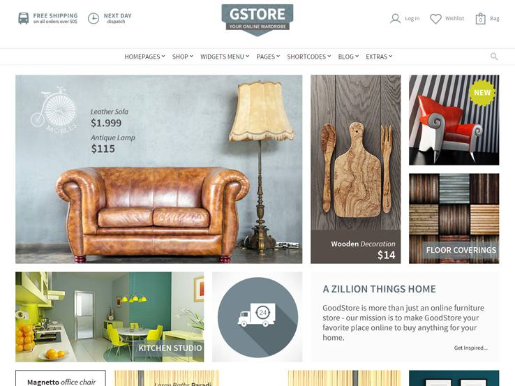 Goodstore. 17  Best WordPress Furniture Themes 2017