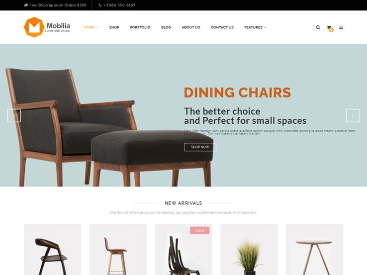 17 best wordpress furniture themes 2018 for Mobilia wordpress theme