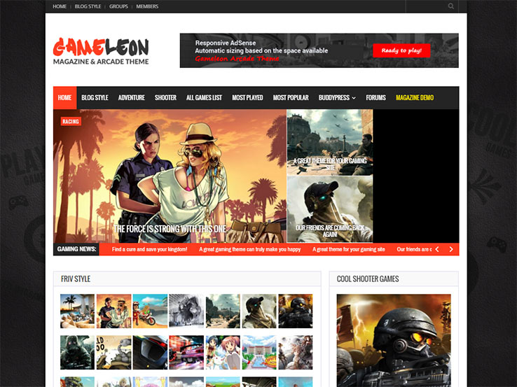 35+ Best WordPress Gaming Themes 2017