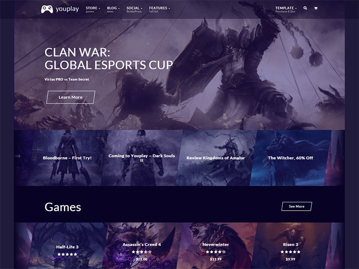 35 best wordpress gaming themes 2018