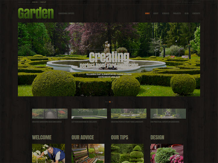 Responsive Garden Design from TemplateMonster