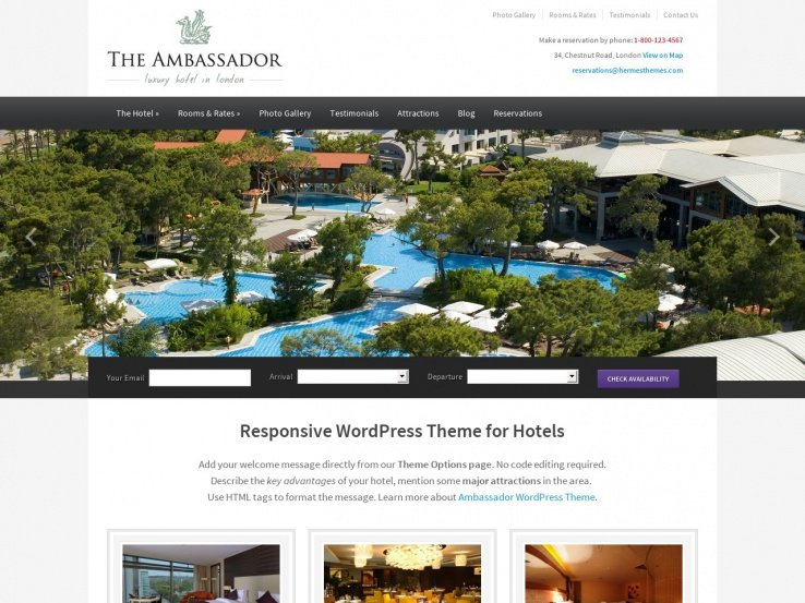 40+ Best WordPress Hotel Themes 2017