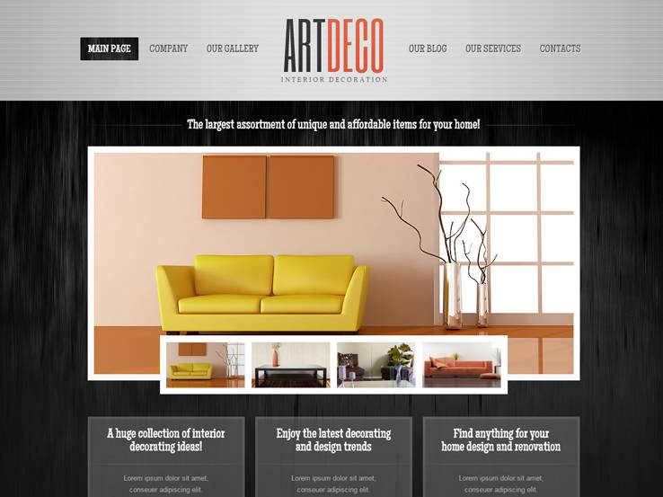 home design website. Art Deco 85  Best Interior Design WordPress Themes